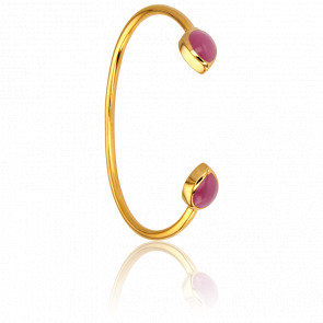 Bracelet Demi-Jonc Tourmaline Rose Collection Artemis