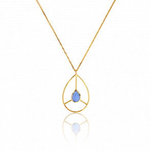 Collier Rétro Bleu Ciel Collection Artemis