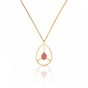 Collier Rétro Tourmaline Rose Collection Artemis