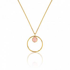 Collier Cercle Quartz Rose Collection Rhea