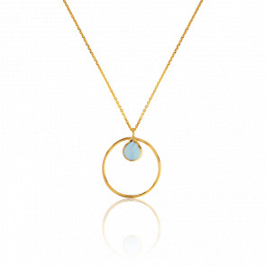 Collier Cercle Bleu Clair Collection Rhea