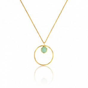 Collier Cercle Calcédoine Verte Collection Rhea