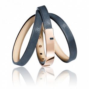 Bracelet U-Turn Twice3 Saphir - Ursul