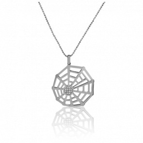 Collier Arachnée Or Blanc