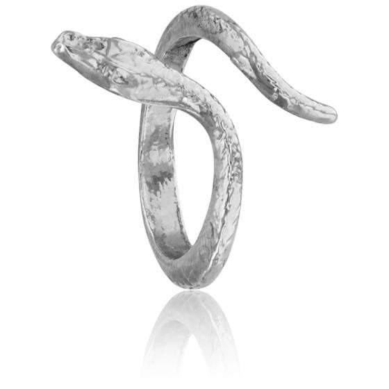 0526072c895 Bague Serpent en Métal Argenté - Helles - Ocarat