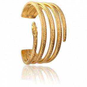 Bracelet Snake Enroulé Doré