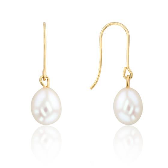 ordre nouvelle sélection nouvelle sélection Boucles d'oreilles perle blanche et or jaune 18K - Porchet - Ocarat