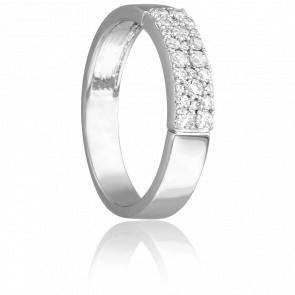 Bague Pluie de Diamants & Or Blanc