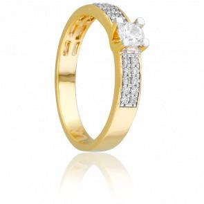 Bague Solitaire Mirage Or Jaune 18K & Diamants