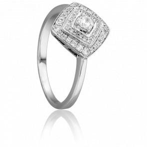 Bague Kaléidoscope Or Blanc 18K et Diamants