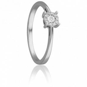 Bague Mirage Or Blanc & Diamants