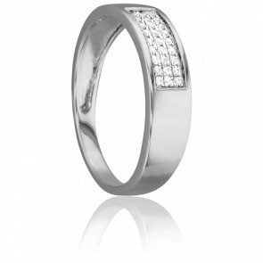 Bague Lumineuse Or Blanc 18K & Diamants