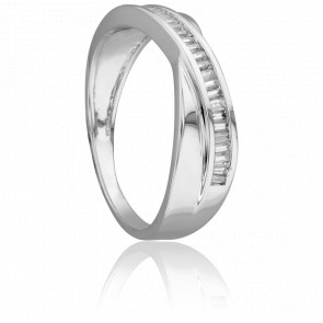 Bague Noeud Mirage Or Blanc & Diamants