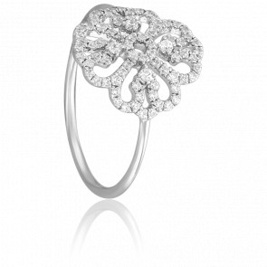 Bague Fleur Sublime Or Blanc 18K & Diamants