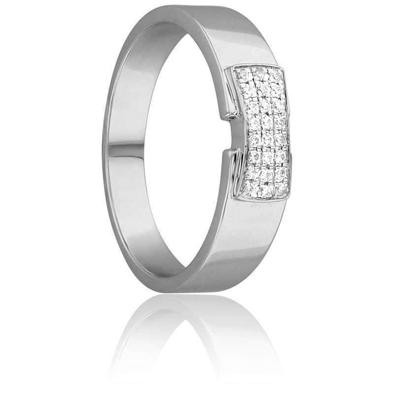 Bague Ceinturée Or Blanc & Diamants