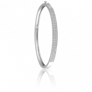 Bracelet Impératrice Or Blanc 18K et Diamants - Juweel