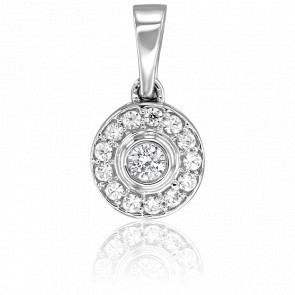 Pendentif Princesse Or Blanc 18K & Diamants