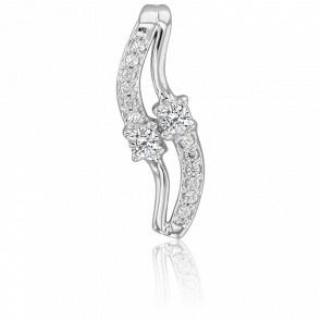Pendentif diamants 0,18 carat et or blanc 18K