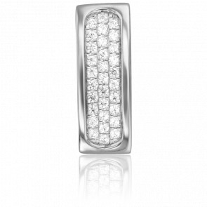 Pendentif Impératrice Or Blanc 18K & Diamants