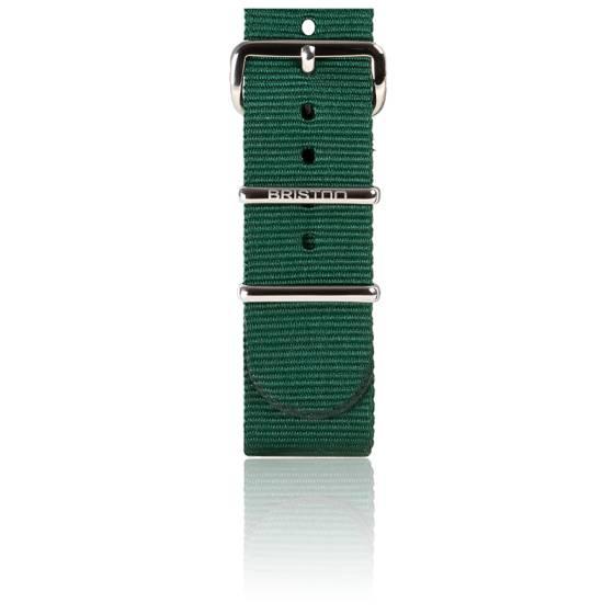 bracelet nato 20mm vert anglais avec boucle acier longueur 245mm briston ocarat. Black Bedroom Furniture Sets. Home Design Ideas