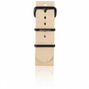 Bracelet Nato 20mm kaki, Longueur 245mm, boucle PVD black
