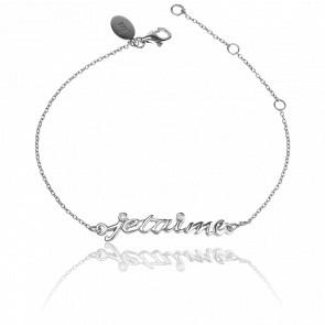 Bracelet Je t'Aime Argent - Virginie Carpentier
