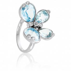 Bague Blue Butterfly, Topaze & Diamants