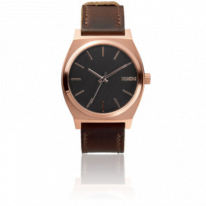 The Time Teller Rose Gold / Gunmetal / Brown  - A045 2001