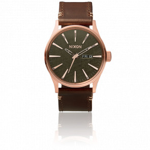 The Sentry Leather Rose Gold / Gunmetal / Brown - A105 2001