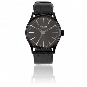 The Sentry 38 Leather Black Gator - A377 1886