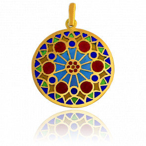 Médaille Vitrail Chartres Or Jaune 18K