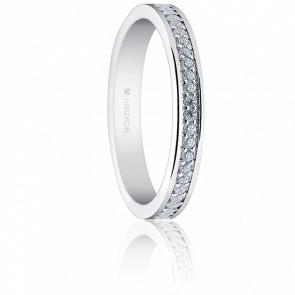 Alliance Carmen 1,50 mm or blanc 18K & diamants