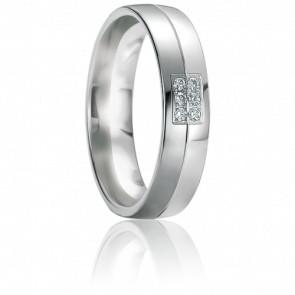 Alliance Mykonos Diamants & Or Blanc 18K