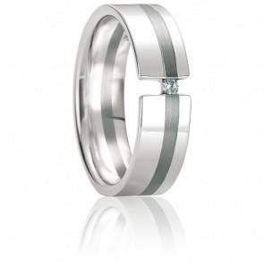 Alliance Serifos Diamant & Or Blanc 18K