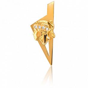 Pendentif Corse & Maure Or Jaune & Diamants