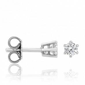 Puces d'Oreilles Majorqua Argent & Diamants 0,47 ct