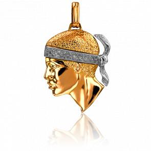 Pendentif Tête de Maure 2 Ors & Diamants