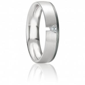 Alliance Ikarie en Diamant & Or Blanc 18K