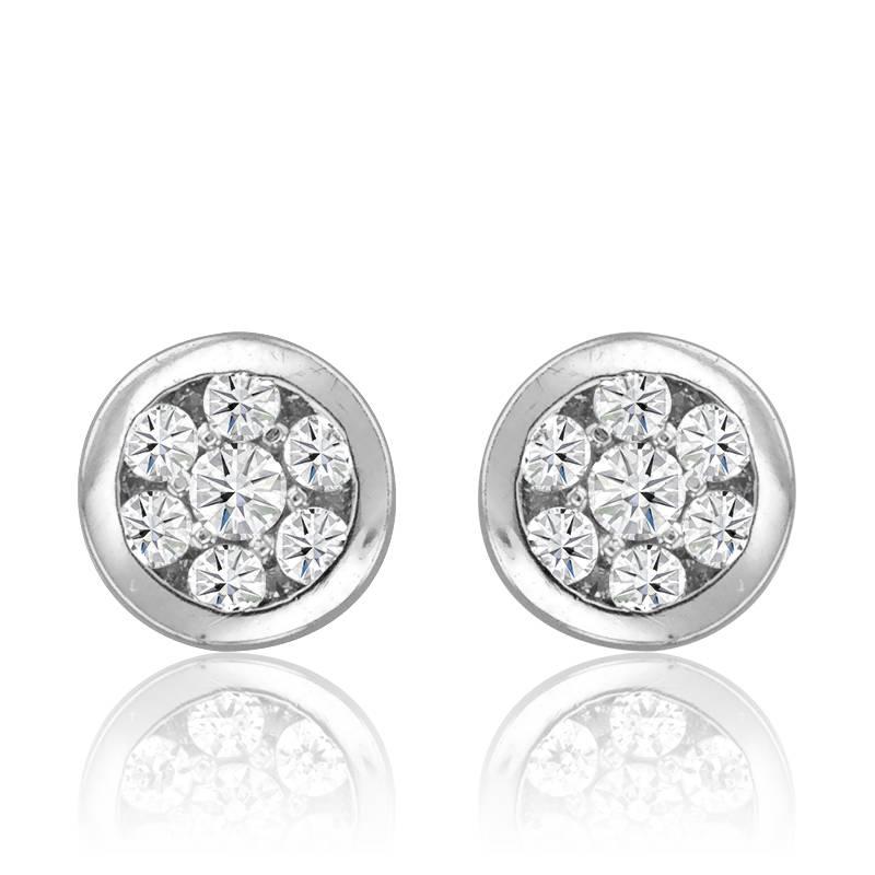 boucles d 39 oreilles or blanc et diamants kundan ocarat. Black Bedroom Furniture Sets. Home Design Ideas