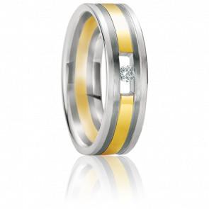Alliance Kos Diamant & 2 Or 18K