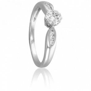 Bague Vatsala Or Blanc 18K et Diamants