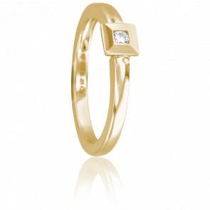 Bague Nimisha Or Jaune 18K et Diamant