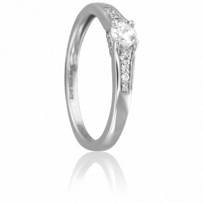 Bague Jahil Or Blanc 18K et Diamants