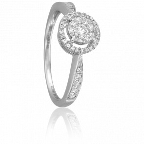 Bague Malaya Or Blanc 18K et Diamants
