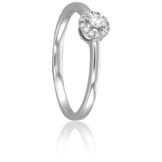 Bague Ojal Or Blanc 18K et Diamants
