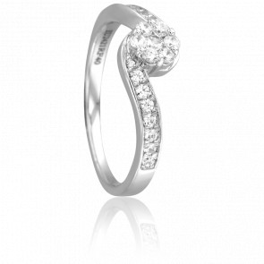 Bague Gamzatti Or Blanc 18K et Diamants