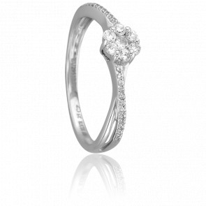 Bague Tisya Or Blanc 18K et Diamants