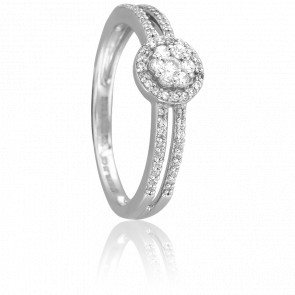 Bague Aloki Or Blanc 18K et Diamants