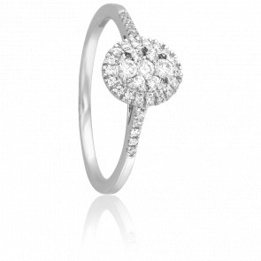 Bague Sanchali Or Blanc 18K et Diamants