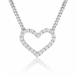 Collier Jharna Or Blanc 18K et Diamants
